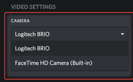 Discord Video Settings