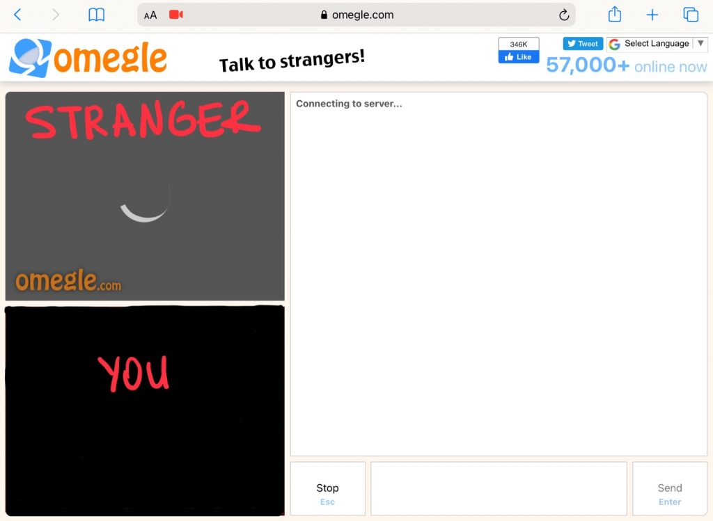 Start Video Chat on Omegle