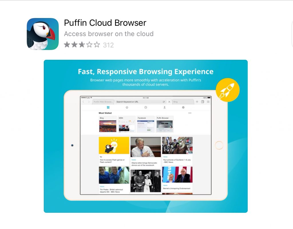 Puffin Browser App Store